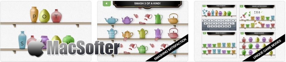 [iPhone/iPad限免] Pot Smash :摔茶壶休闲解压游戏