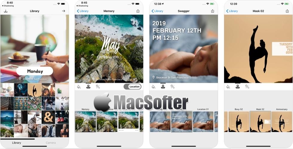 [iPhone/iPad限免] PhotoTag : 在照片上添加时间戳/位置的软件