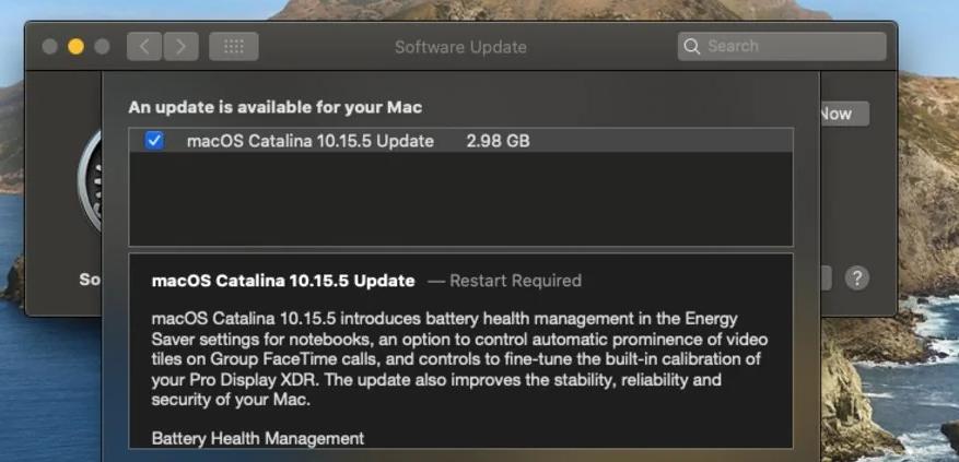 macOS Catalina 10.15.6 Beta 1及10.15.5首个补充更新推出