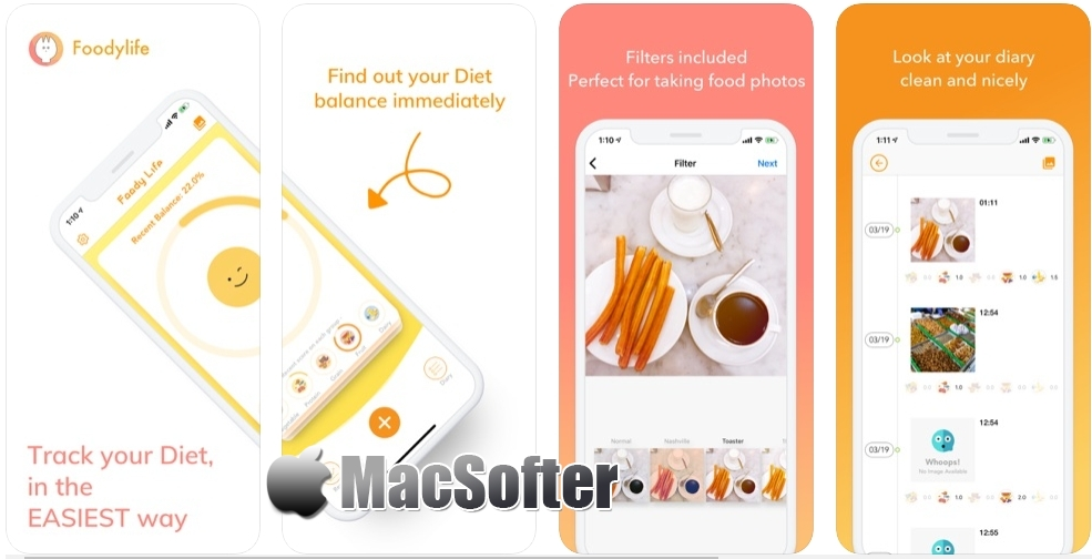 [iPhone限免] FoodyLife :饮食记录软件