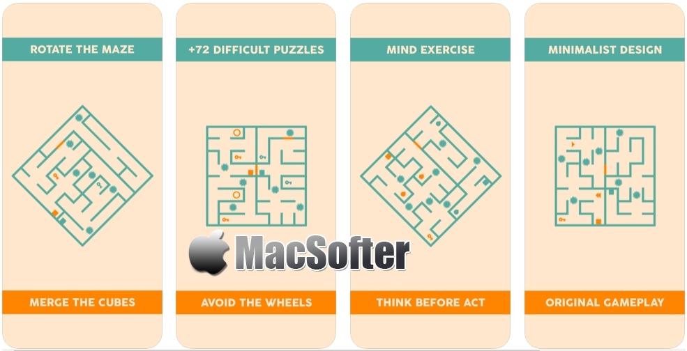 [iPhone/iPad限免] Minimal Maze : 新奇迷宫阵益智解谜游戏