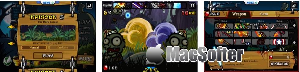 [iPhone/iPad限免] Zombie Sweeper : 僵尸扫荡主题的塔防游戏