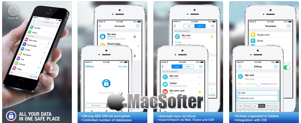 [iPhone/iPad限免] AllPass Pro :帐户及密码管理工具