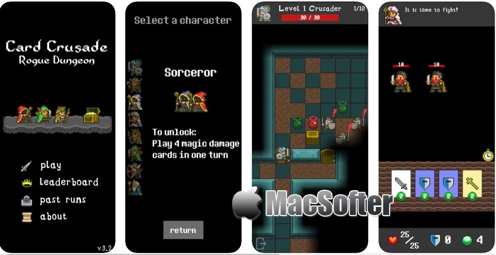 [iPhone/iPad限免] Card Crusade : 像素风格类的冒险游戏