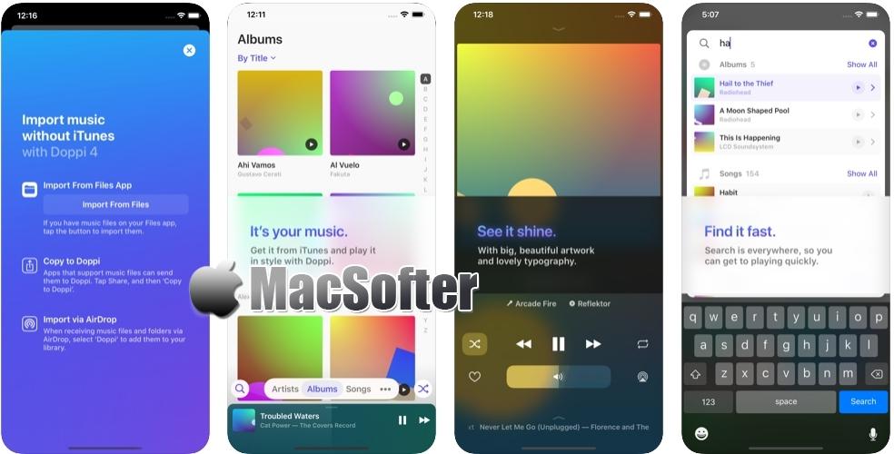 [iPhone限免] Doppi :比iOS原生更美的音乐播放器