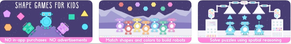 [iPhone/iPad限免] Little Robot Shapes and Colors :小机器人的形状和颜色认知游戏