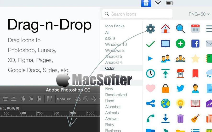 [Mac] Pichon :离线矢量图标工具