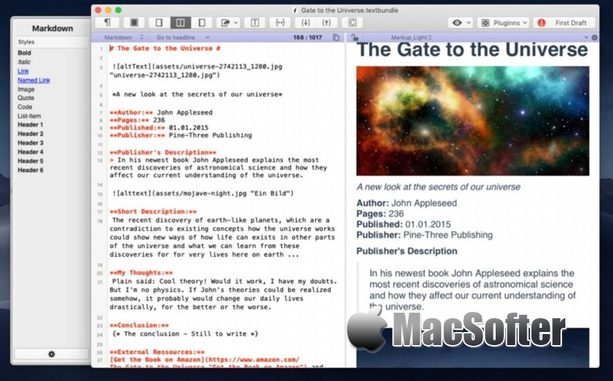 [Mac] MarkMyWords : 文本格式化及结构化处理工具