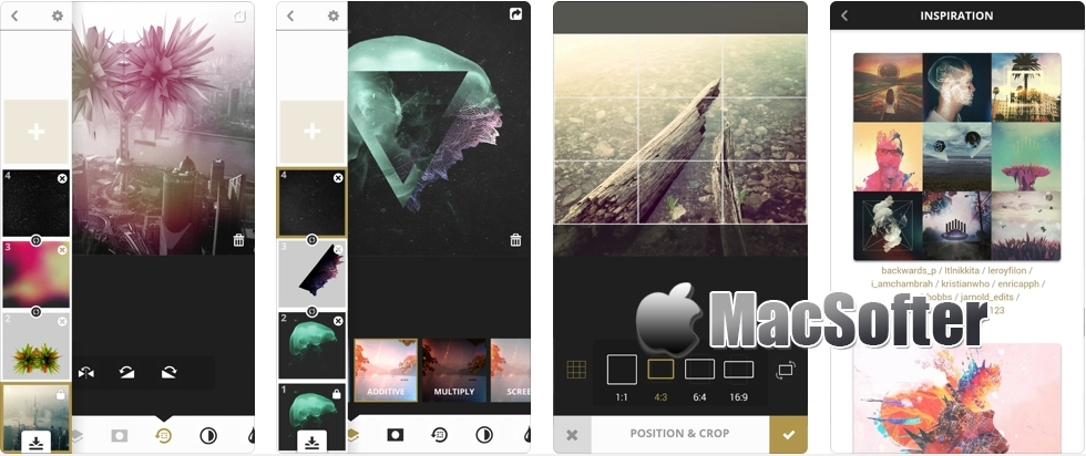 [iPhone/iPad限免] Meld :支持图层管理的照片编辑处理工具