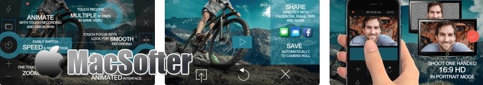 [iPhone限免] RazorCam Pro Video Camera : 可直立拍摄出16:9 横版视频的相机软件