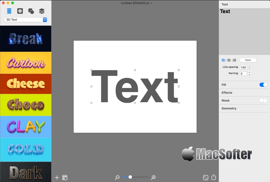[Mac] BeLight Art Text: 专业好用的艺术字设计及图标设计软件