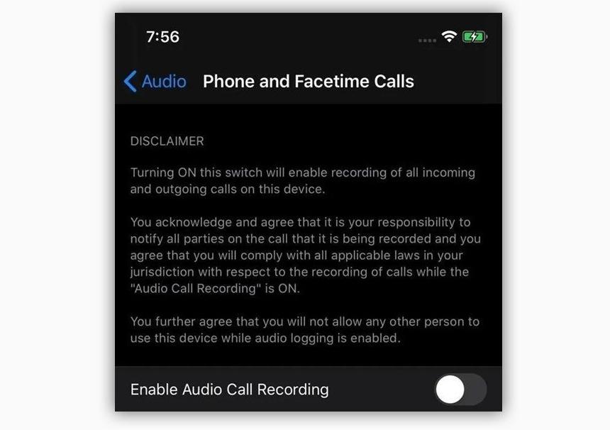 疑似iOS 14 截图曝光通话录音功能:但可能和你想的不一样