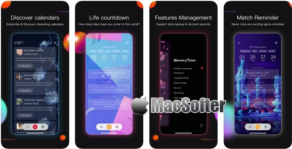 [iPhone限免] MemoryTimer - Countdown! :可跟踪重要日子的倒计时软件