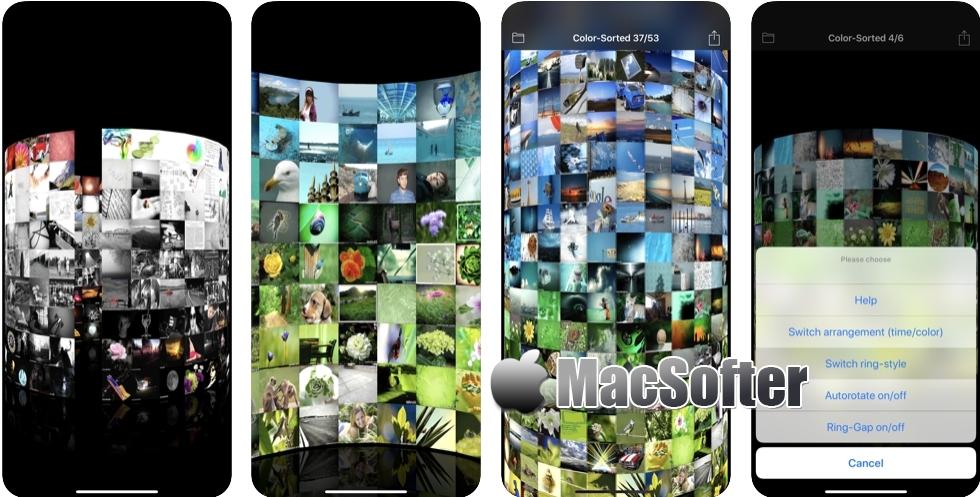 [iPhone/iPad限免] 3D Photo Ring : 照片3D墙展示工具