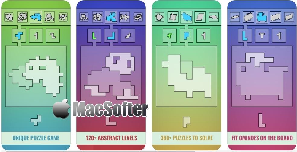 [iPhone/iPad限免] ShapeOminoes : 类似七巧板的拼图益智游戏