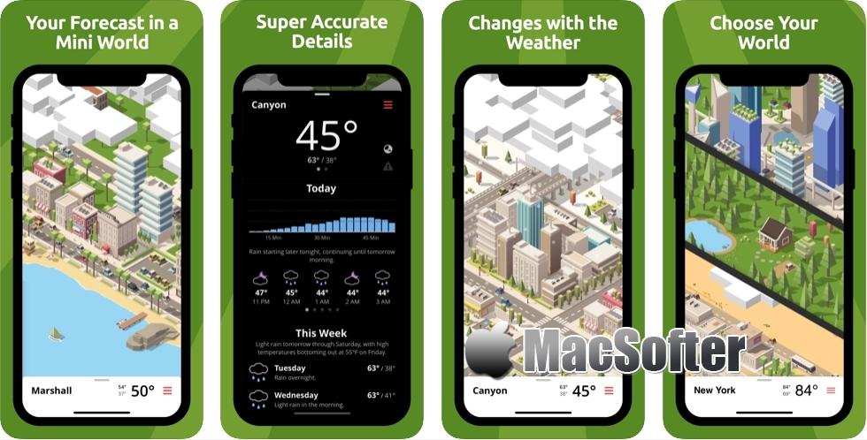 [iPhone/iPad限免] Tinyclouds Weather :可爱画风的天气预报软件