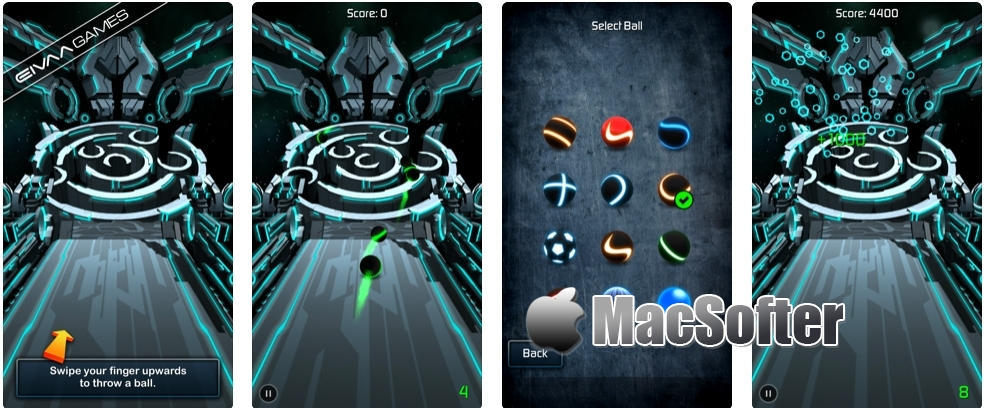 [iPhone/iPad限免] Bowling 10 Balls :科技感十足的滚球游戏