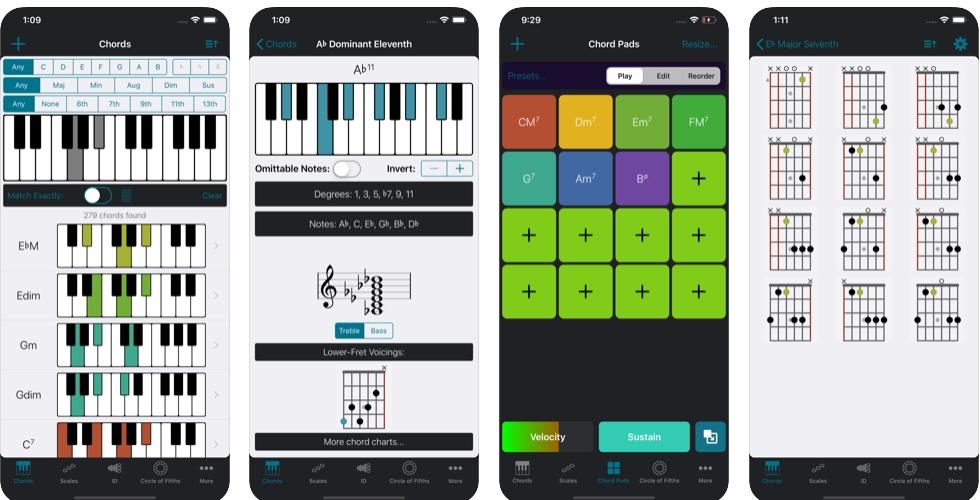 [iPhone/iPad限免] Tonality : 吉他与钢琴等和弦音乐工具大全