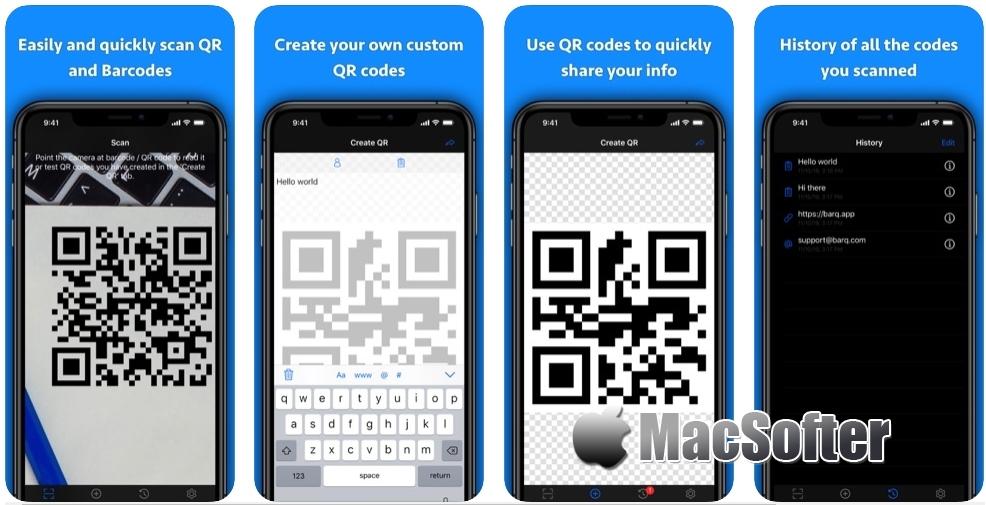 [iPhone/iPad限免] QR + BarCode Scanner  :二维码及条形码制作扫描工具