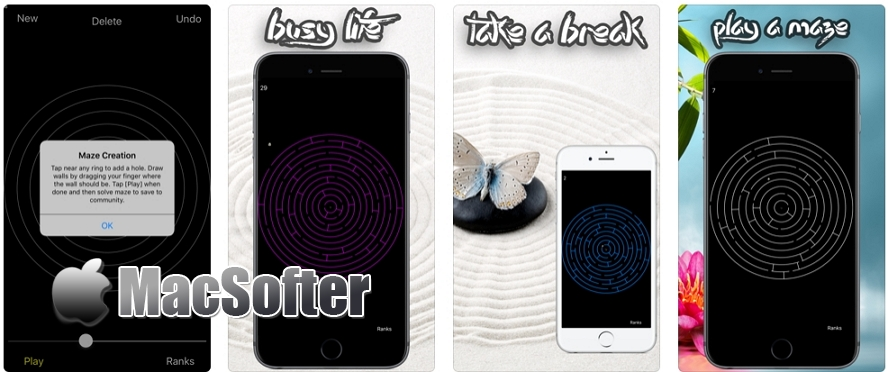 [iPhone/iPad限免] Maze Zen : 耐玩的小钢珠迷宫游戏