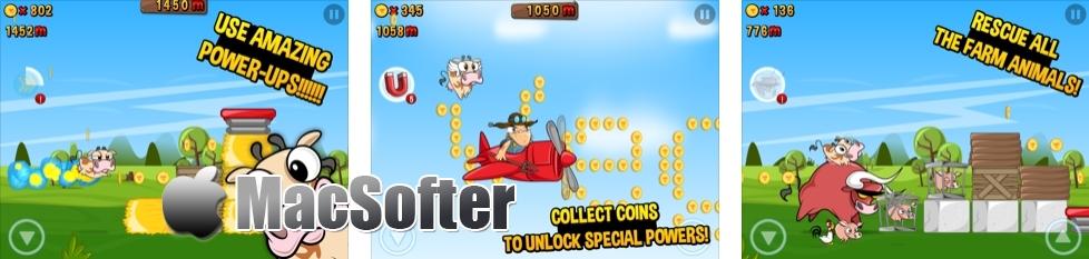[iPhone/iPad限免] 奶牛快跑 Run Cow Run : 农场主题的休闲跑酷游戏