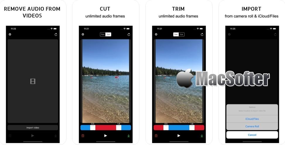 [iPhone/iPad限免] Mute Videos : 视频消音处理工具