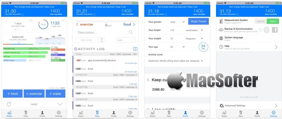 [iPhone/iPad限免] Scientific Diet Clock :卡路里计算器