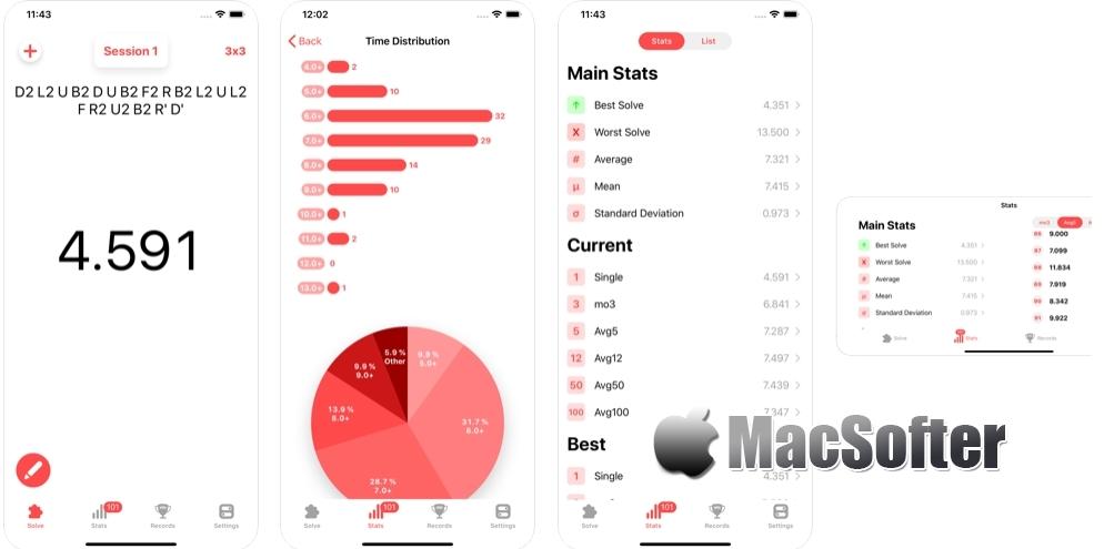 [iPhone/iPad限免] SkipTimer : 带有统计功能的计时器软件