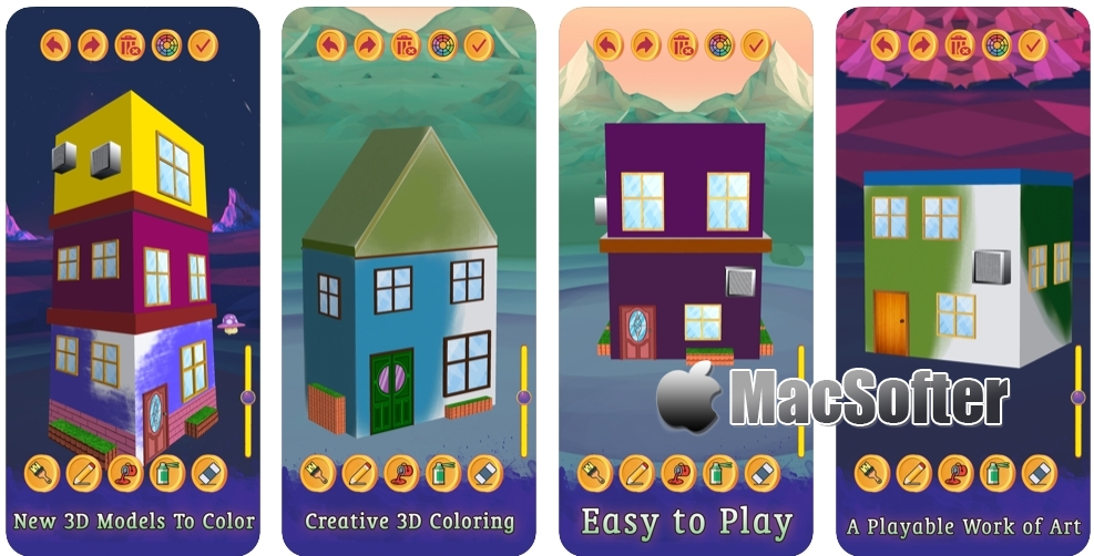 [iPhone/iPad限免] House Paint 3D :房屋着色减压游戏