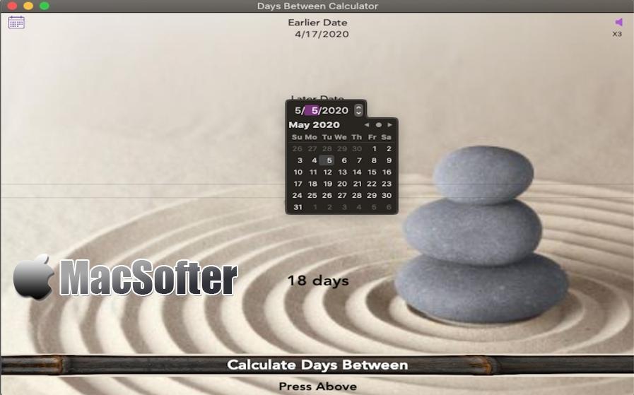 [Mac/iPhone/iPad限免] Days Between Calculator : 计算两个日期之间天数的计算器