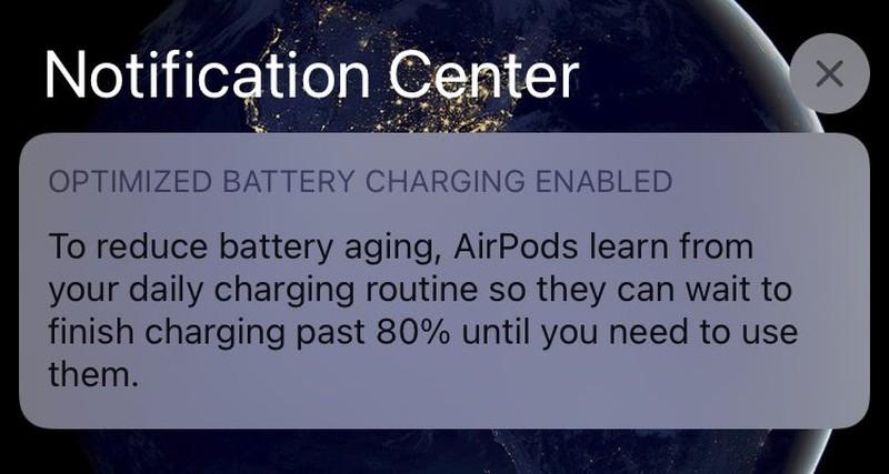 iOS 14支持AirPods充电最佳化:延长电池寿命