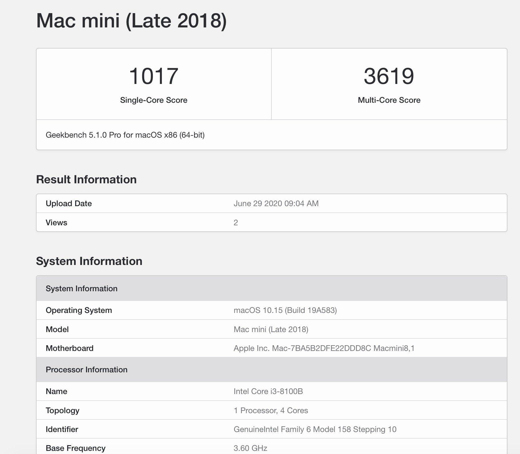 配A12Z的Mac mini ARM版Geekbench跑分来了 : 速度不如i3?