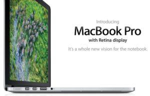 现在MacBook产品线,不管是MacBook Air或MacBook Pro都已配备Retina显示器。在首款Retina MacBook Pro被列入过时与停产产品后,Apple不再对停产的产品提供硬体维修服务,毫无例外。维修中心无法订购停产的产品零件。