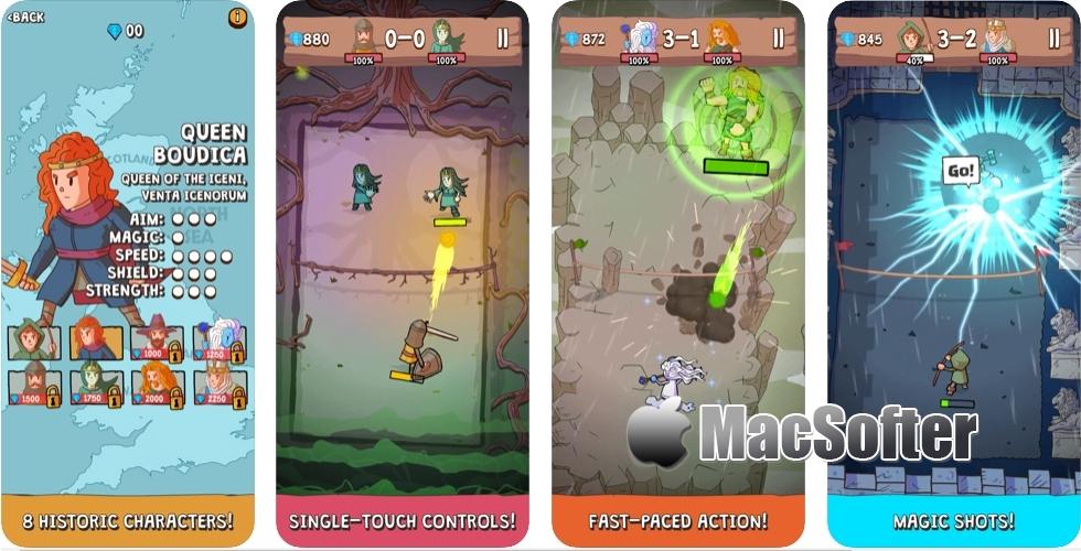[iPhone/iPad限免] QuestBall :结合了法术元素的网球游戏