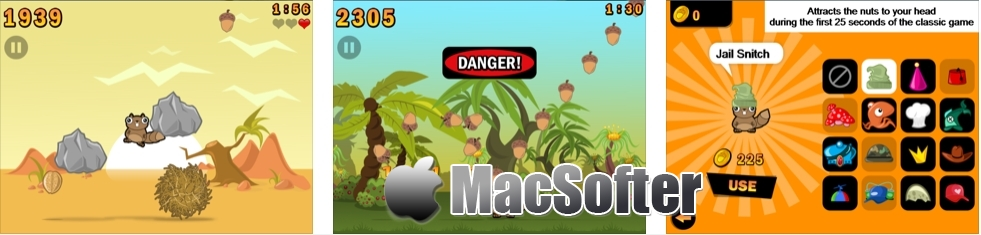 [iPhone/iPad限免] Noogra Nuts : 铁头小松鼠与坚果游戏