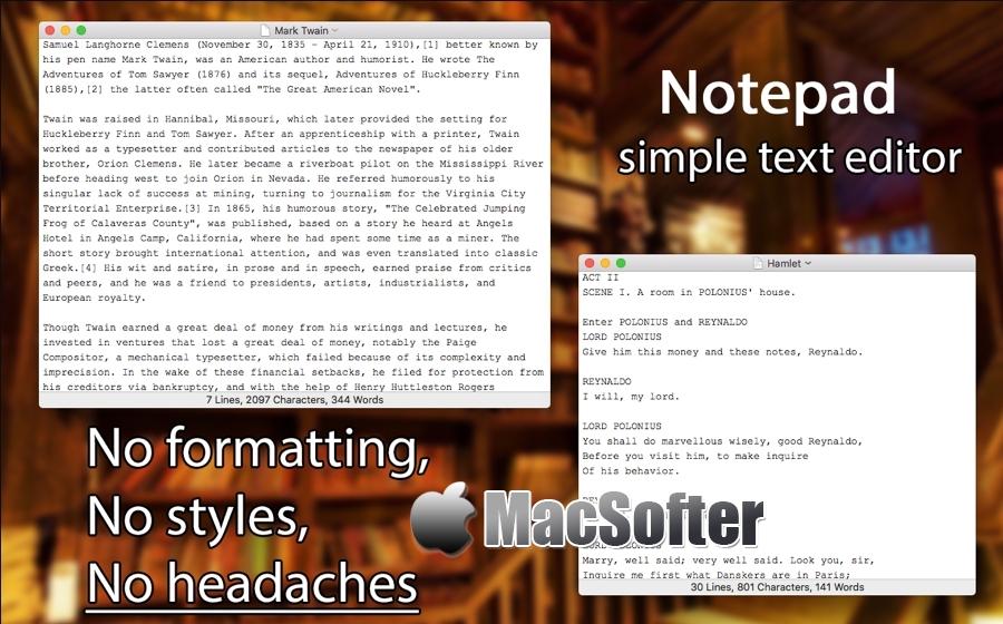 [Mac] Notepad : macOS平台的纯文本编辑器
