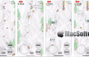 [iPhone/iPad限免] Sketchy Snowboarding :童趣手绘风格单板滑雪游戏