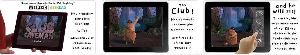 [iPhone/iPad限免] Club Caveman : 憨憨可爱的原始人互动游戏
