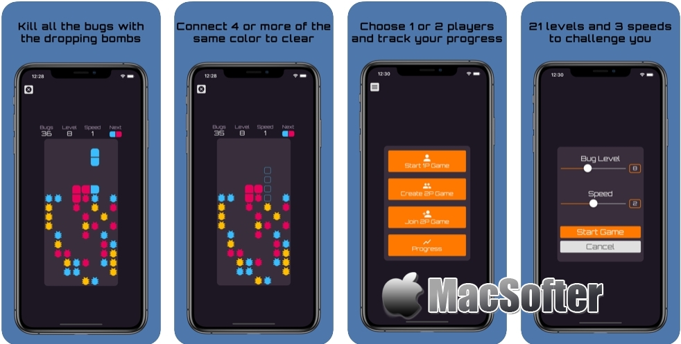 [iPhone/iPad限免] Bug Bomber : 消灭虫虫主题的益智游戏