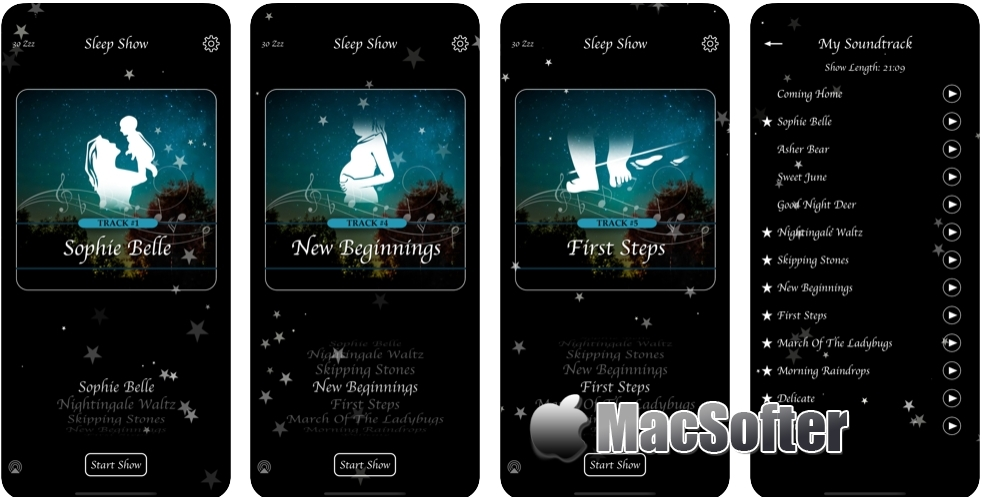 [iPhone/iPad限免] Sleep Show (Piano Lullabies) :帮助宝宝睡眠的摇篮曲软件