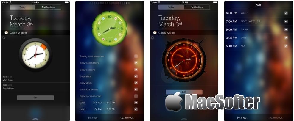 [iPhone/iPad限免] Alarm Clock Widget :通知中心的时钟软件