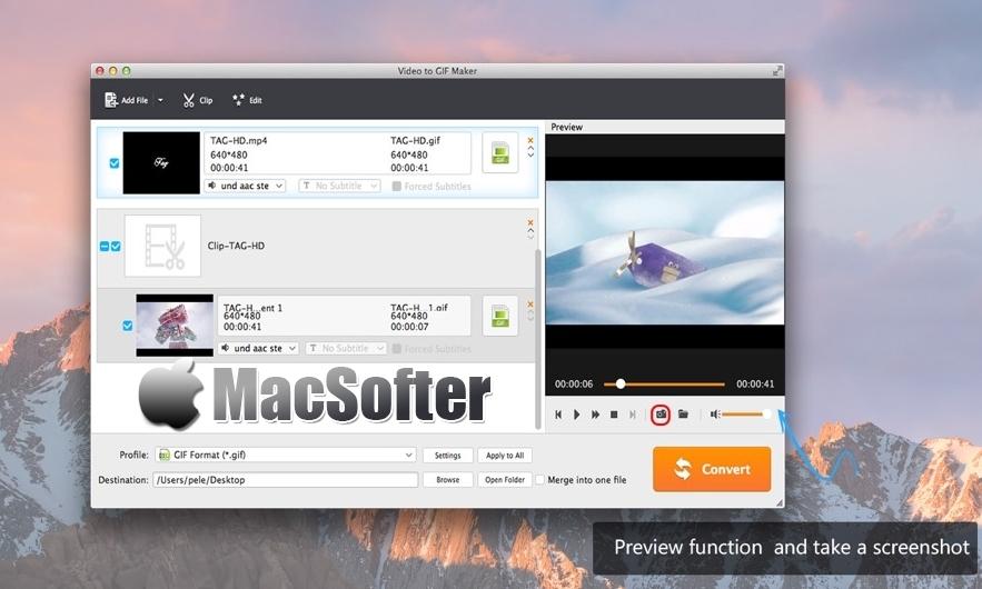 [Mac] Aisee Video to GIF Maker :视频制作GIF动图工具