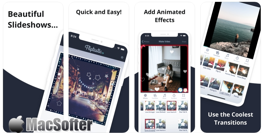 [iPhone/iPad限免] Fliptastic Pro :幻灯视频制作工具