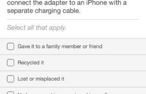 苹果询问iPhone用户如何处理旧充电头