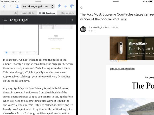iPad版Gmail加入支持分屏功能:iPad版Gmail支持分屏后变得更好用