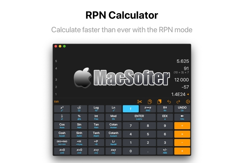 [Mac/iPhone/iPad限免] Calculator RPN :RPN计算器软件