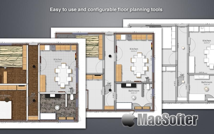[Mac] MyFourWalls :室内装修设计软件