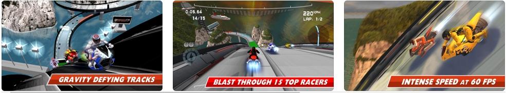 [iPhone/iPad限免] Impulse GP - Super Bike Racing :反重力悬浮摩托赛车游戏