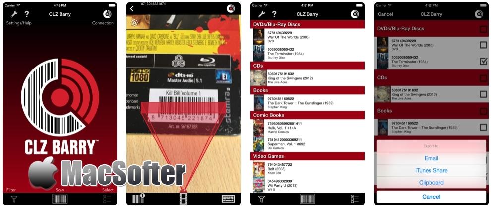 [iPhone/iPad限免] CLZ Barry :无线条码扫描器