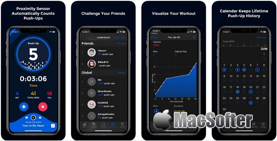 [iPhone/iPad限免] PushFit Pro :俯卧撑计数器